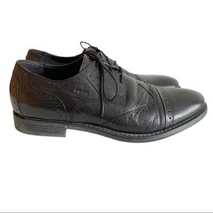 Geox Respira Black Oxford Shoes Pointy Toe US 10